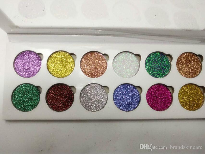 2017 Yeni Makyaj GLITTER EYESHADOW PALET 12 Ultra Pigmentli Glitter gözler Gölgeler Pırıltılı 12 renkler Göz farı Paleti DHL kargo