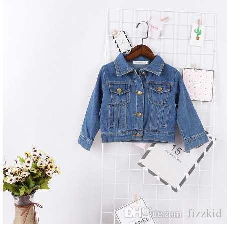 ce01cf898 Fashion Baby Girls Boys Spring Autumn Jeans Jacket Long Sleeve Pocket Denim  Jacket Coat Children Fashion Street Wear Winter Coat Toddler Girl Girl Long  Coat ...