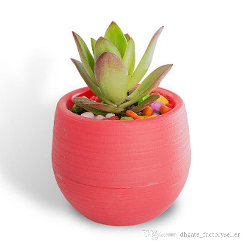 Vasi In Plastica Da Arredo.Forniture Di Arredamento Da Giardino Fioriere Da Giardinaggio Di Colore Della Caramella Mini Vasi Di Fioriera Di Plastica Della Piantatrice Del Fiore