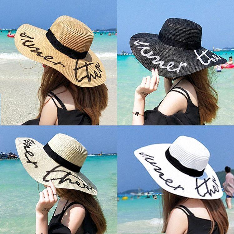 6c4ffb92802 Spring And Summer Visors Cap Big Wide Large Brim Sun Hat Holiday ...