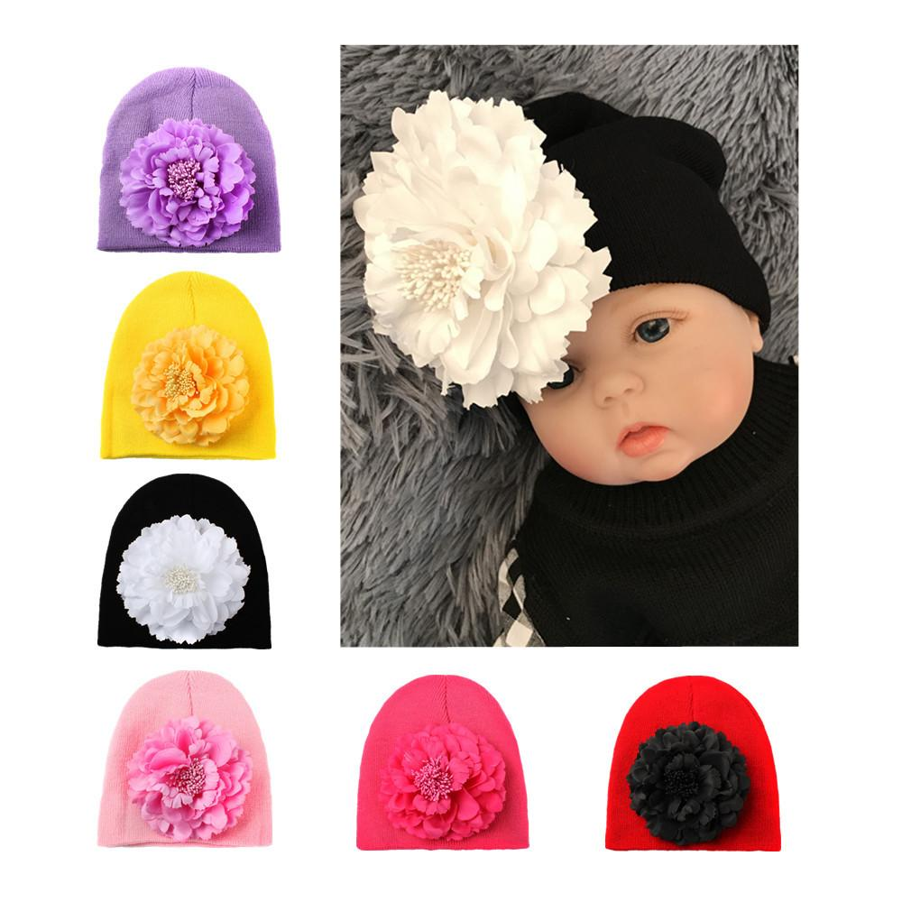 23386b5e7 2019 Baby Hat Big Floral Baby Girls Hats Flower Girls Caps ...
