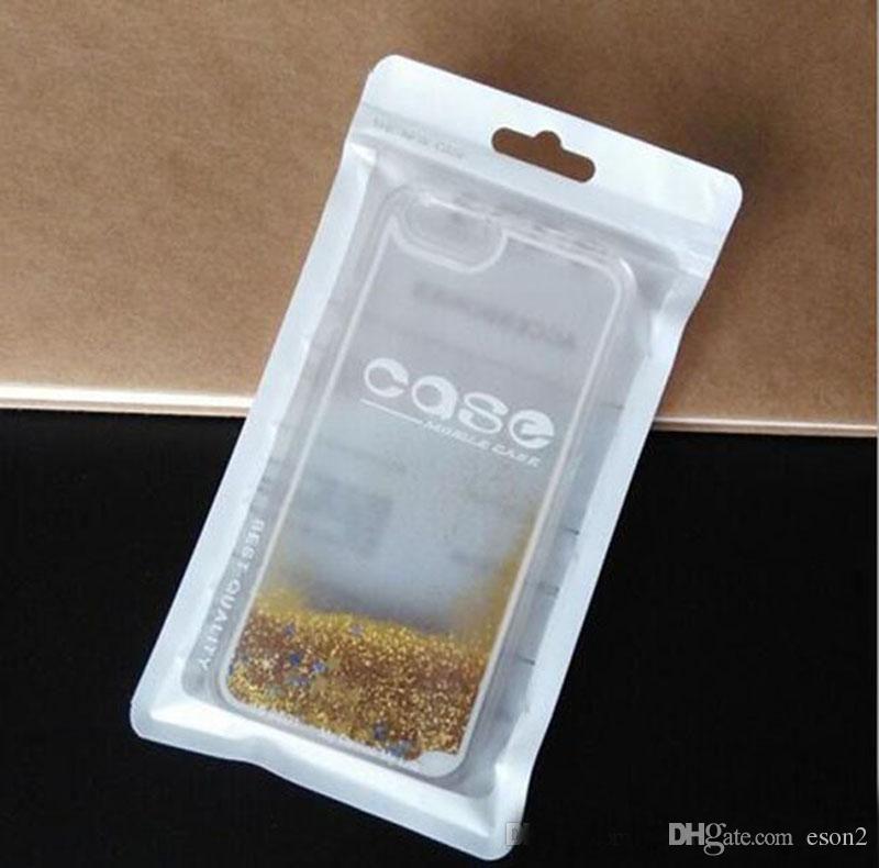 Telefone celular caso de plástico de embalagem Zipper Retail Pacote sacos Opp PVC saco de embalagem com Pendure Buraco