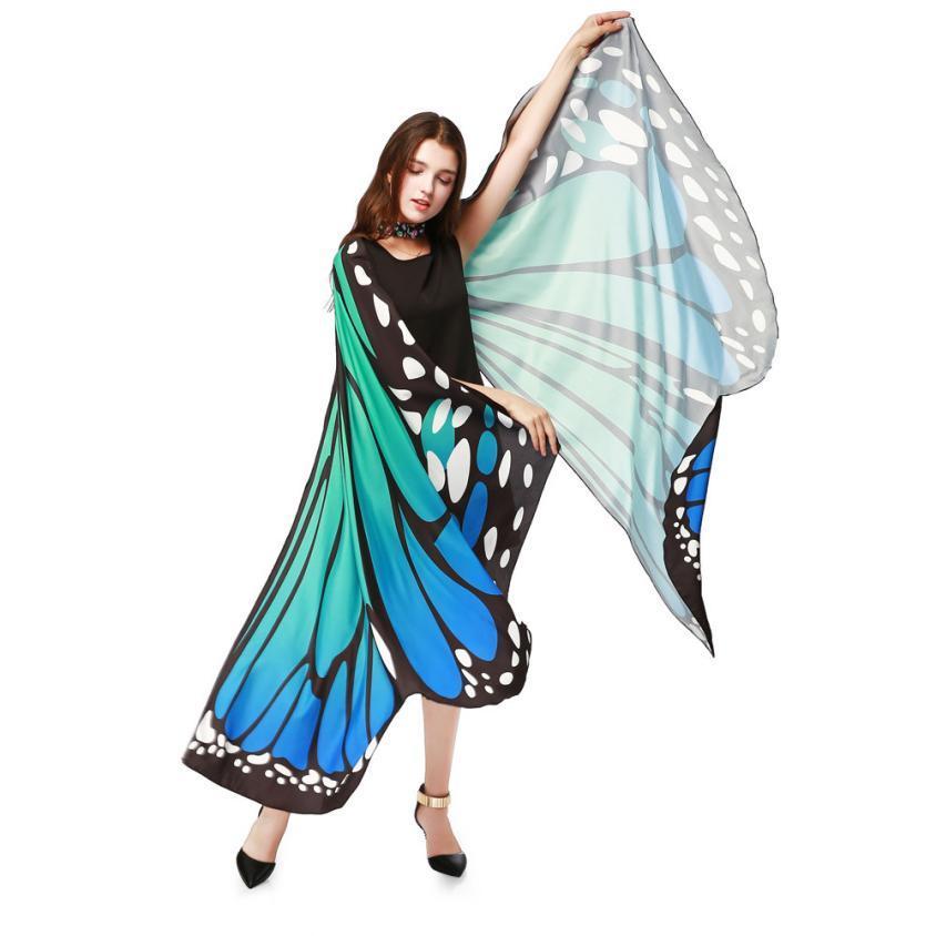 NewWomen Kelebek Kanatları Şal Atkılar Bayanlar Perisi Pixie Panço Kostüm Aksesuar yaz eşarp atkılar stoles xales e ponchos