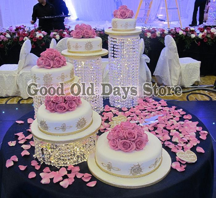 4 Pcs Cristal Gâteau De Mariage Stand De Gâteau De Mariage Asiatique Affichage De Fête De Banquet Affichage Décoration D Anniversaire Cupcake