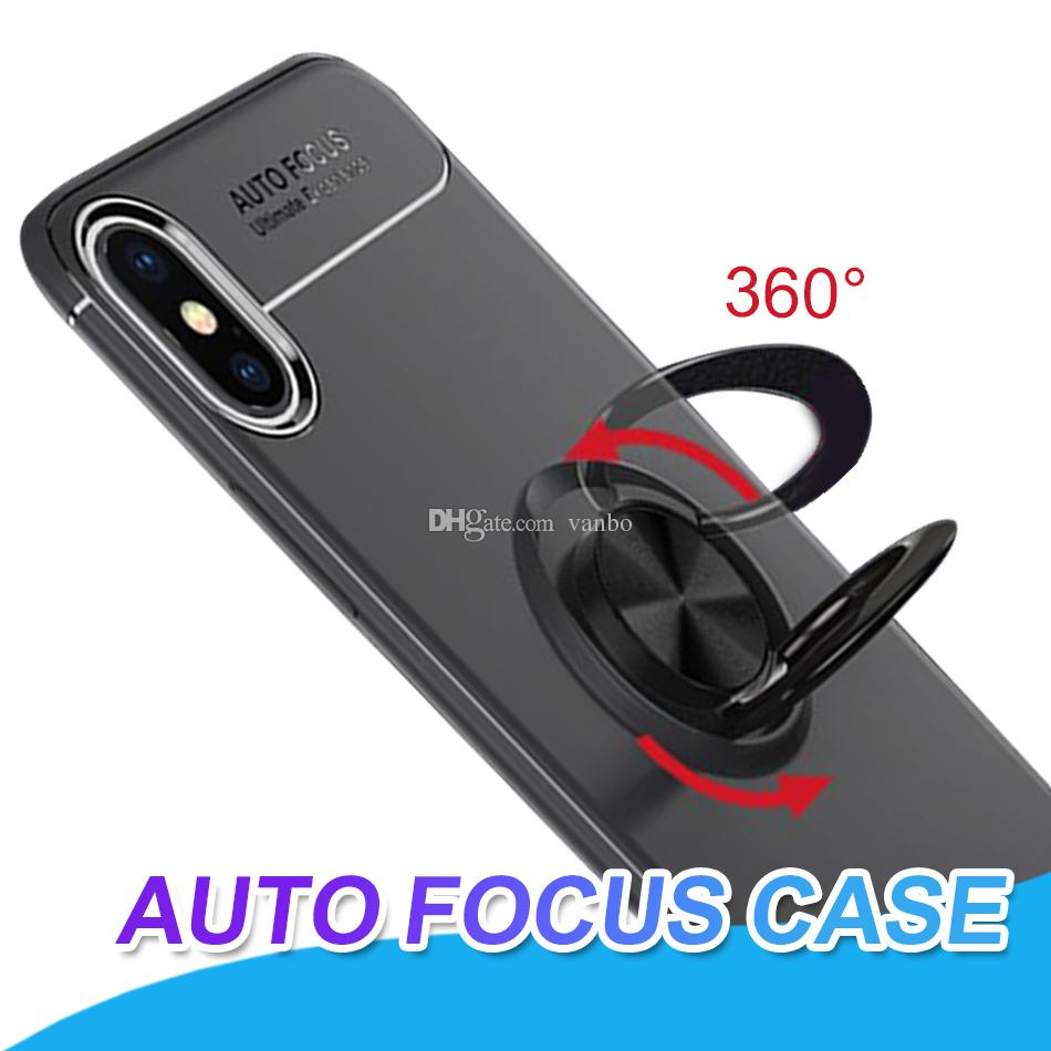 cheaper eba8e b29e2 Auto Focus Case Cover For iPhone X XR XS Max Back Cover Case With 360  Degree Rotation holder Case Phone Protector For Samsung S8 S9 Plus