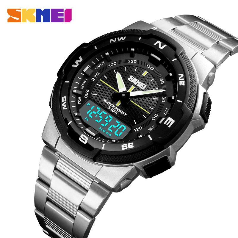 ff9e3764a89 SKMEI Watch Men Fashion Sport Quartz Clock Mens Watches Top Brand Luxury  Full Steel Business Waterproof Watch Relogio Masculino Vintage Watches  Automatic ...