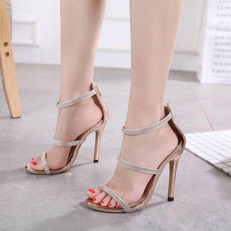 New Fashionl Women High Heel Pumps Open Toe Elegant Catwalk Show ... d2e021cdc306