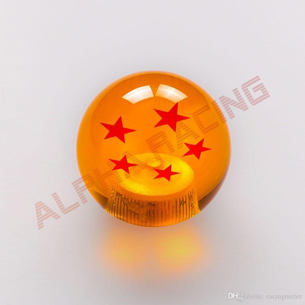 Car Gear Z Shift Knob Dragon Ball 7 Stars Amber-colored knob M12/10/8 for Honda