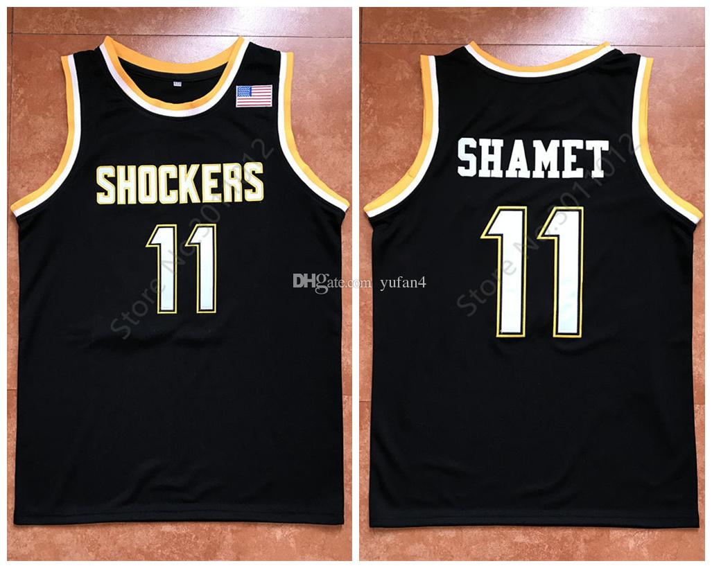 new product baa99 b984d #11 Landry Shamet Wichita State Shockers College Retro Classic Basketball  Jersey Mens Stitched Custom Number and name Jerseys