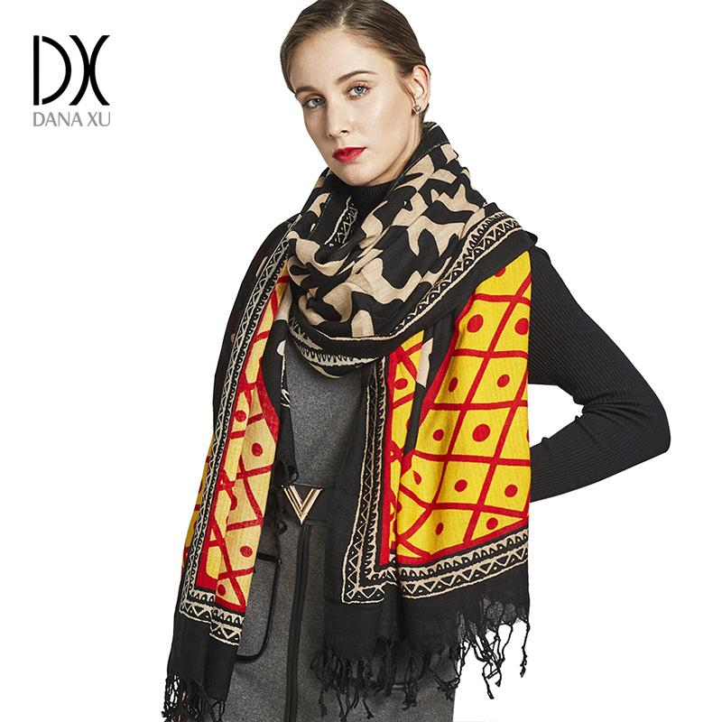 92cee8c91fa01 Großhandel 2018 Neue Mode Winter Schal 100% Wolle Luxus Marke Damen Schals  Wraps Frauen Warme Schals Frauen Bandana Gesicht Schild Pashmina Von ...