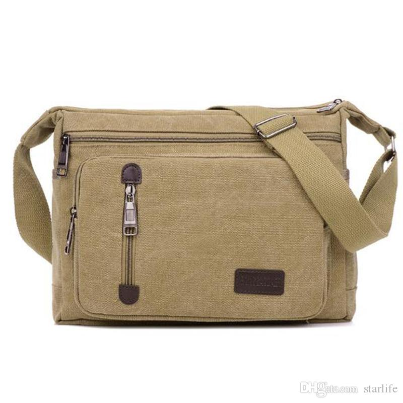 6294e7cf1c Canvas Messenger Bags Men Bags Vinatge Men S Fashion Crossbody Shoulder Bag  Solid Male Casual Travel Bag Cheap Purses Handbags For Women From Starlife