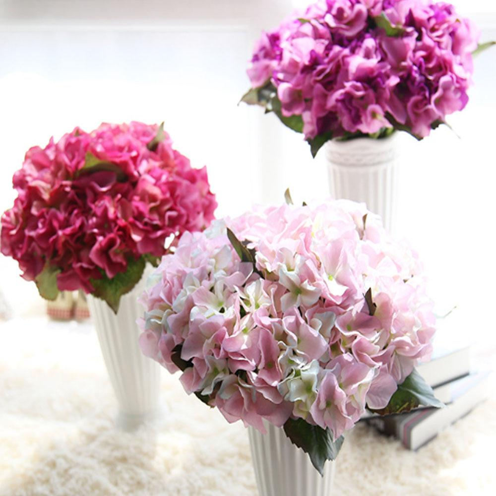 High quality silk artificial hydrangea plant 35cm simulation flowers high quality silk artificial hydrangea plant 35cm simulation flowers gift home office wedding decoration fake flowers wholesale artificial flowers fake izmirmasajfo