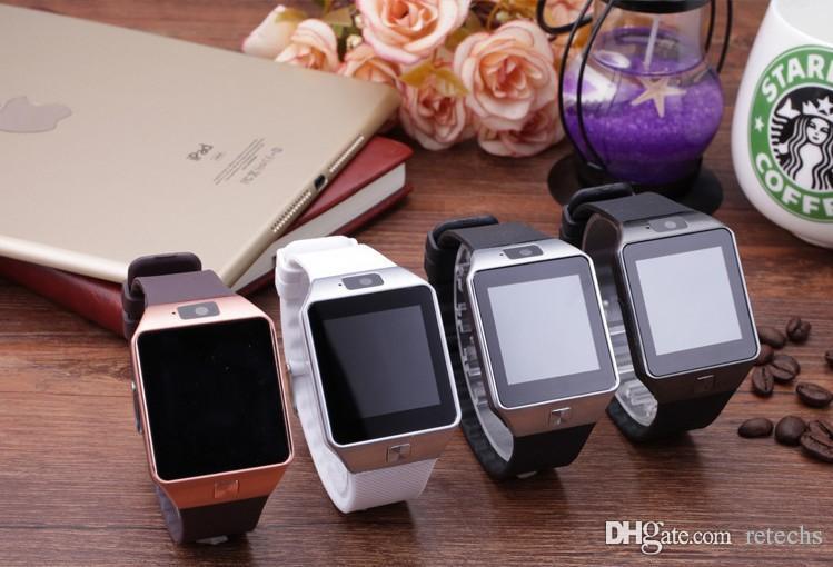 DZ09 Wristbrand GT08 U8Smartwatch بلوتوث الروبوت SIM الهاتف الذكي ووتش مع الكاميرا يمكن تسجيل حزمة البيع بالتجزئة حالة النوم