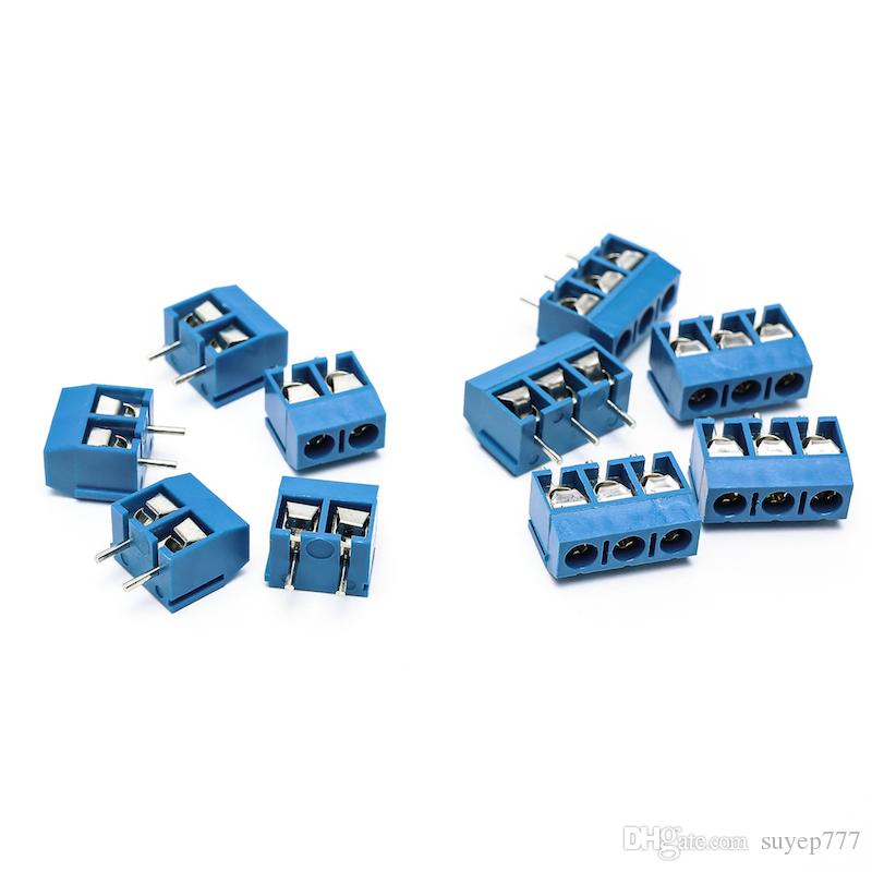 Petits Connecteurs Électriques KF 301-2P 301-2P Bleu Cuivre 5.0mm Droite Broche PCB Terminal Bornier Connecteur Assortiment kit