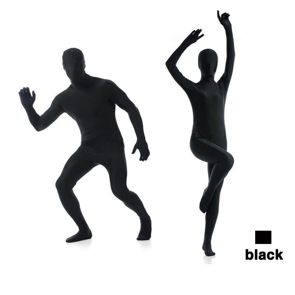 Tam Vücut Parlak Lycra Spandex Zentai Suit Kostüm Partisi Cilt Sıkı Renk Seç