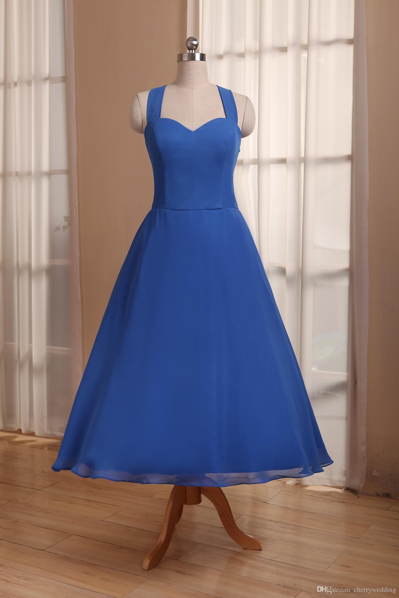 Retro Aqua Bridesmaid Dresses