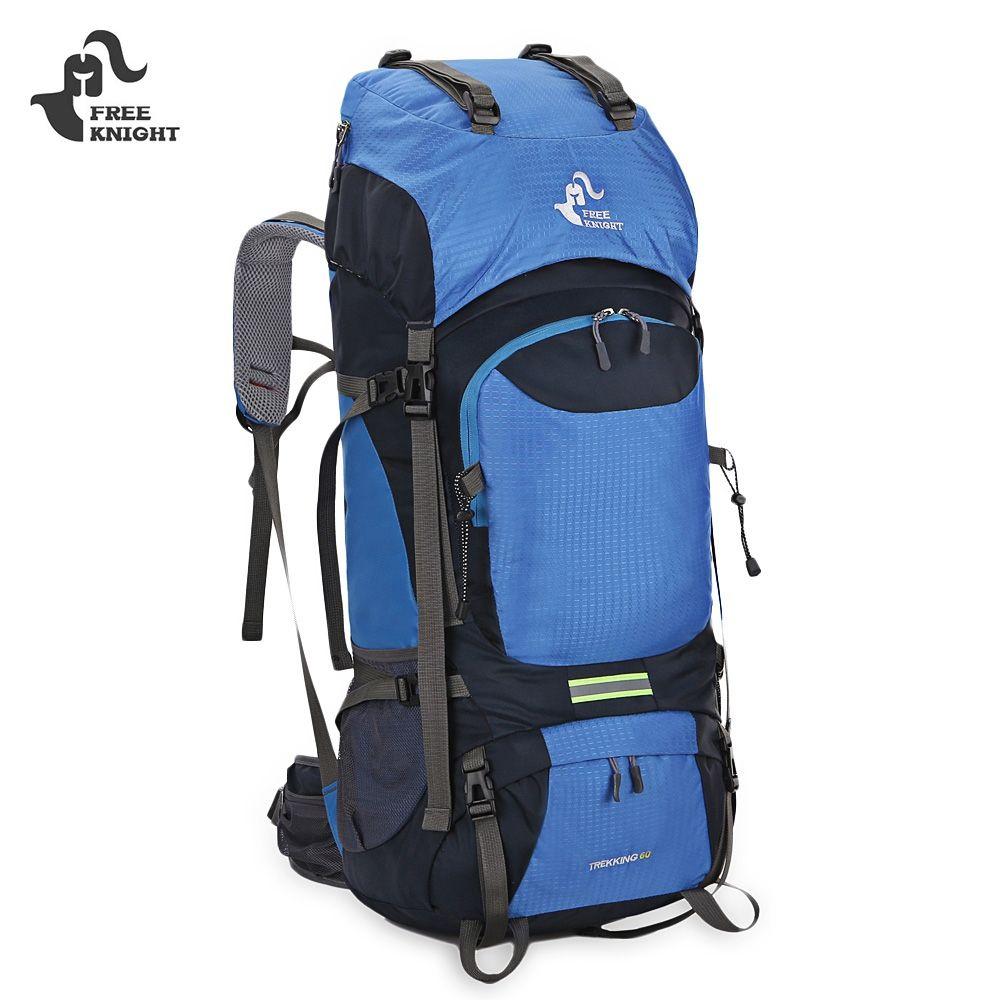 e73d7f27f Compre FREEKNIGHT 60L Unisex Resistente À Água Grande Mochila Para Escalada  Caminhadas Alpinismo Trekking Viagem Mountain Sport Bag Homens Mulheres De  ...