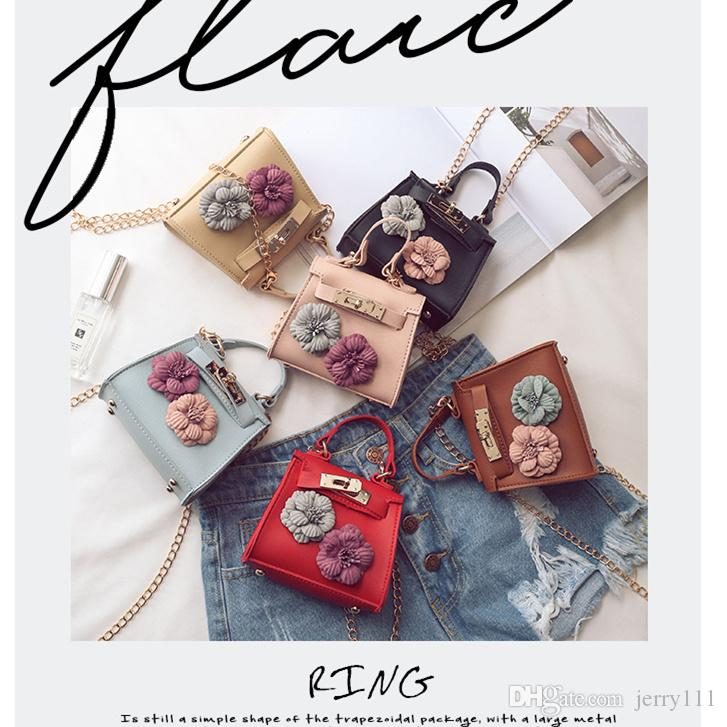 Ins Childrens Handbags Designer Brand Pu Leather Girls Purse Mini