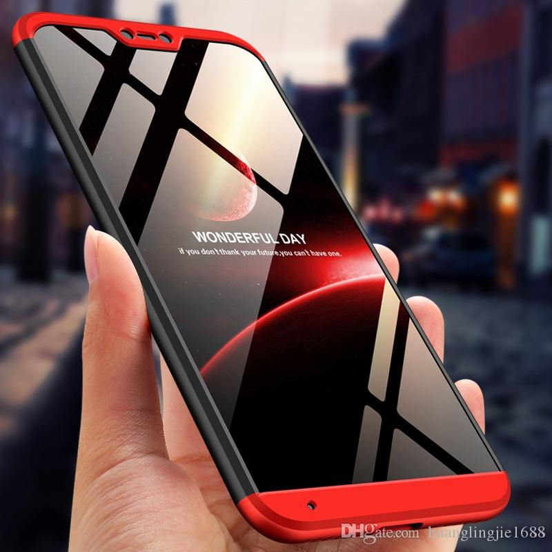 quality design 180ac d12ab For XIAOMI hongmi 6/redmi 6 pro Case Luxury 360 Full Body Hard Frosted PC  Back Cover Case for hongmi 6/redmi 6 pro Protection Bag Shell