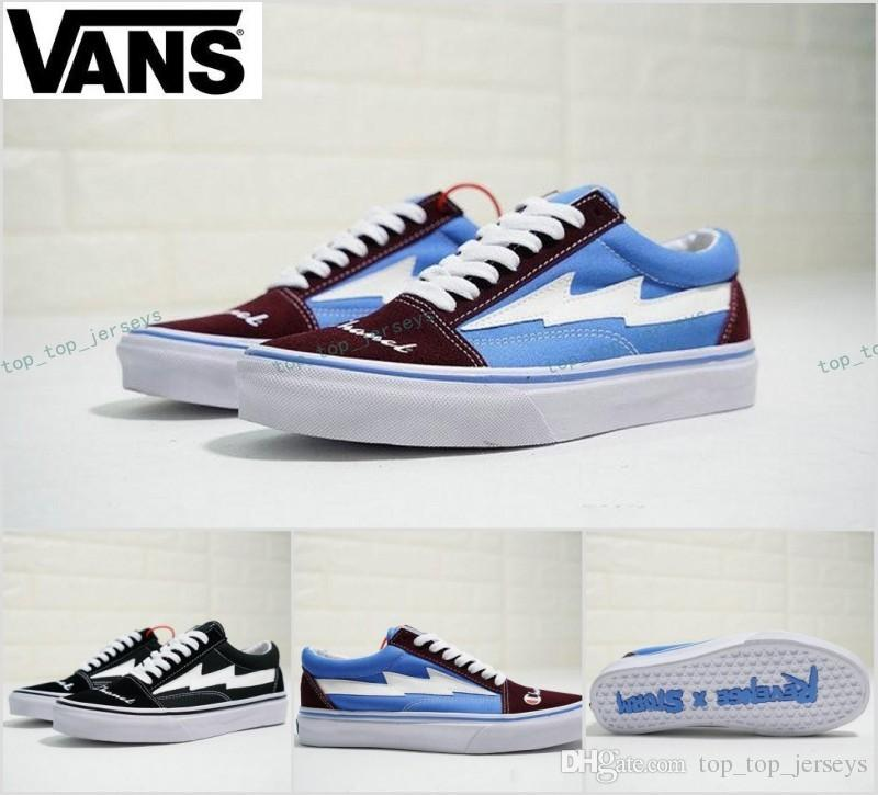 2018 Vans Revenge x Storm Pop-up Store Old Skool zapatillas de deporte Sneakers Women Mens Canvas White Brand Casual shoes get authentic sale online 4Rsbz