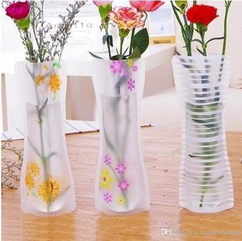 Hot Creative Clear Pvc Plastic Vases Water Bag Eco Friendly Foldable