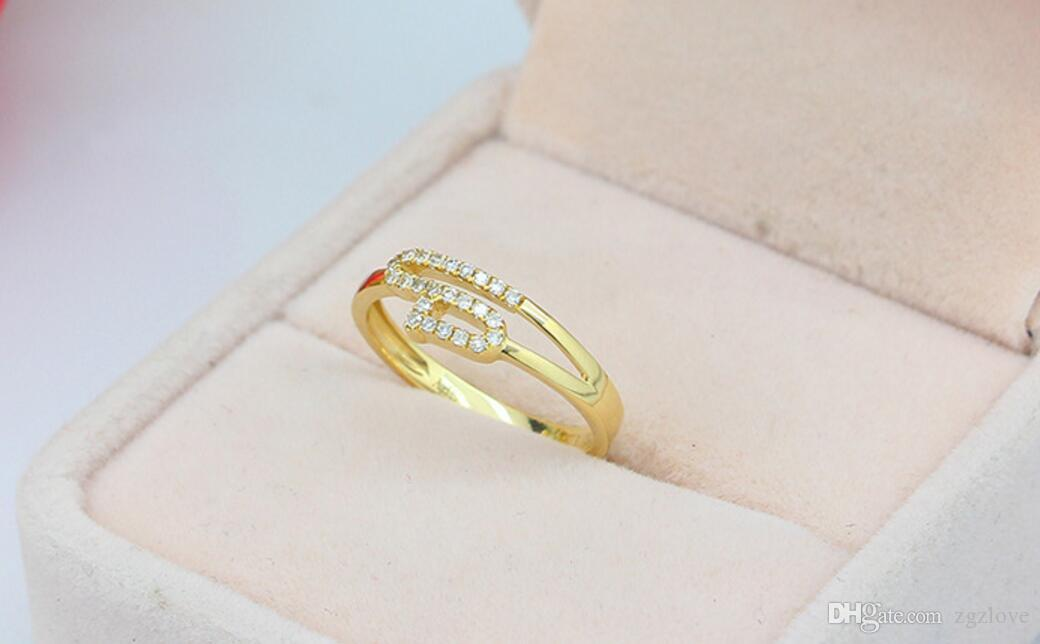 18K Gold Ring Inlaid with Diamond Women Design Personality, Custom ...