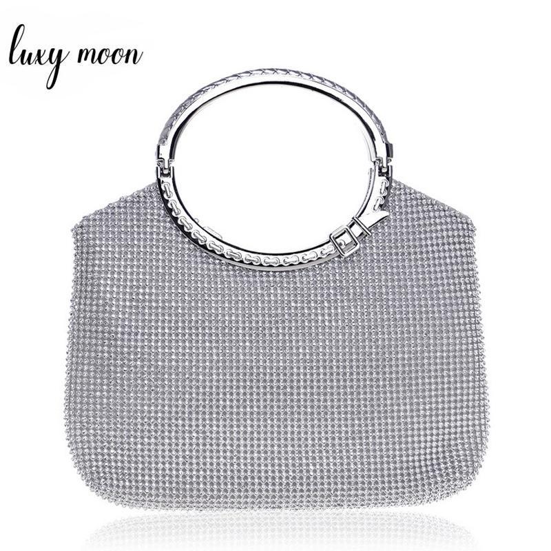 New Fashion Design Full Rhinestone Women Handbag Metal Handle ... 616d042bf3