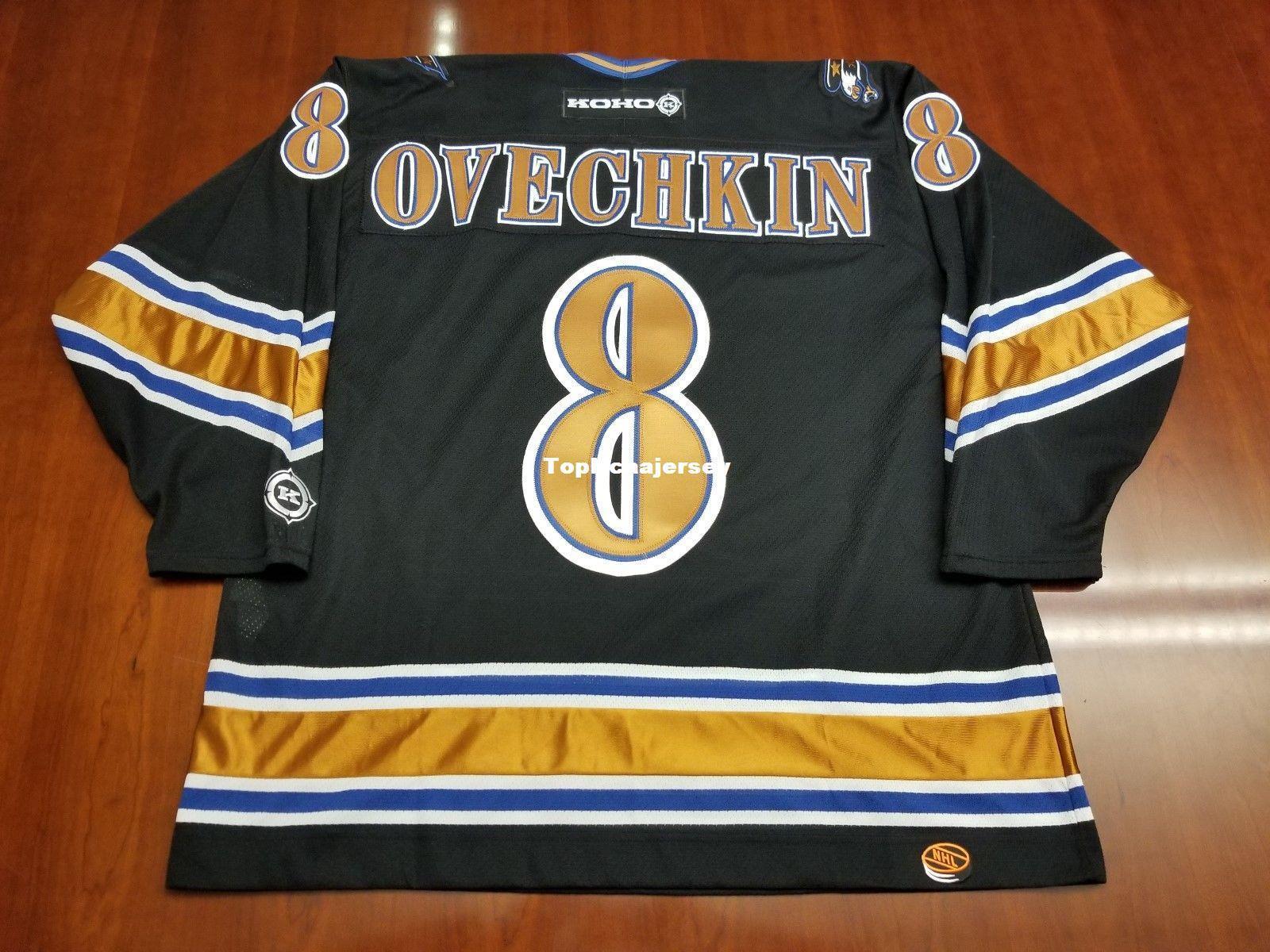new style 22617 53f83 Wholesale Alex Ovechkin Washington Capitals Vintage Koho Cheap Hockey  Jersey Black Mens Retro Jerseys