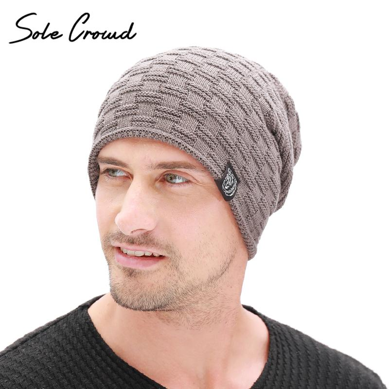2019 Sole Crowd Fashion Cloth Label Skullies Beanies Men Winter Plus Velvet  Thick Hats Warm Knitted Caps For Men Bonnet High Quality From Hcaihong 687b0f993071