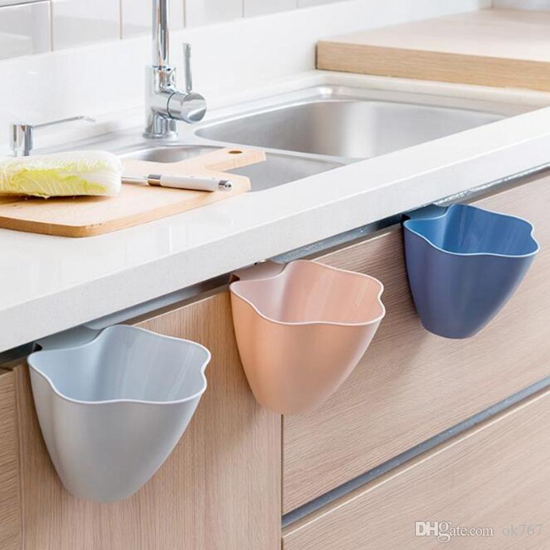 خزائن المطبخ علب القمامة باب المنزل الإبداعية البلاستيكية المغطاة البلاستيك دلو نوم القمامة القمامة الشحن مجانا مصغرة