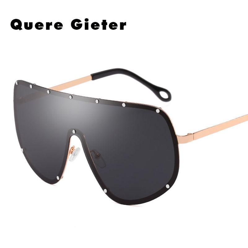 f14c4e05c4 Compre Anteojos Grandes Steampunk De Montura Grande Lente Negro Para Hombre  Gafas De Sol Polarizadas Mujeres Diseñador De La Marca Gafas De Sol Para  Hombres ...