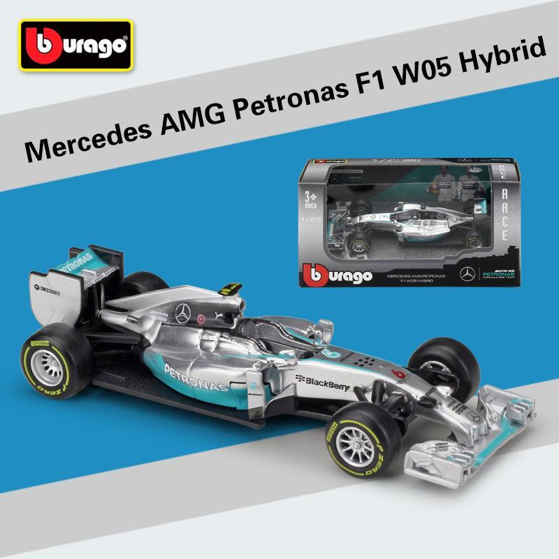 1:43 Scale Mini Metal F1 Car Formula 1 Model Benz Racing Car Simulator  W05/W07 Alloy Toy Diecast Collection/Model/Kids Gift