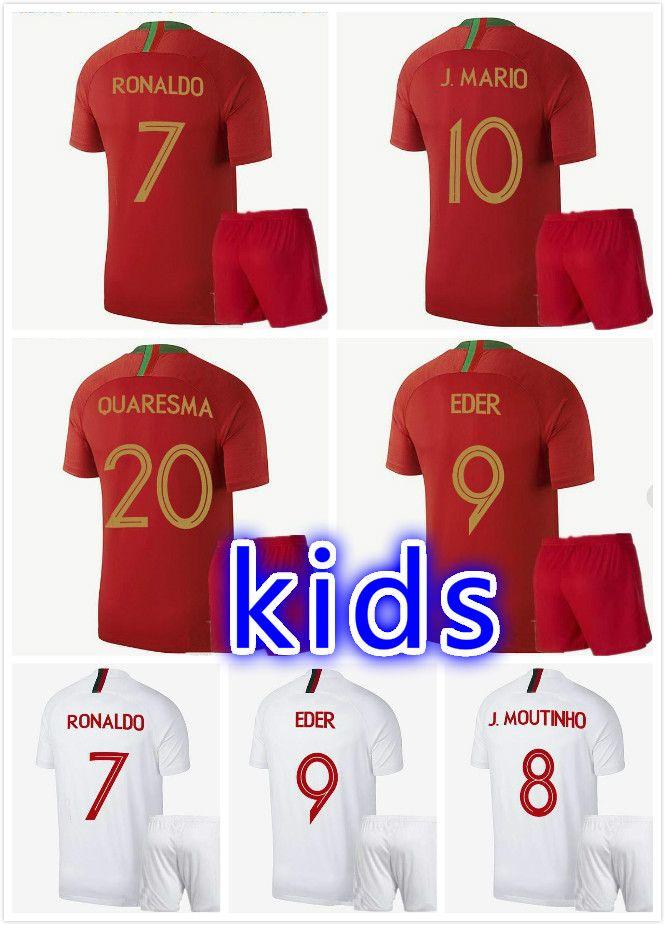 735f71b101a 2018 World Cup QUARESMA kids Soccer Jersey 18 19 Portuguese national team  soccer Shirt QUARESMA NANI EDER football Shirt