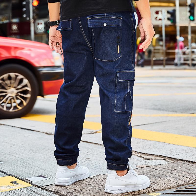 c423ff4ba29 2019 Plus Size 30 42 44 46 Mens Blue Jeans Baggy Cargo Pants Denim Loose  Straight Cotton Denim Trousers Jean For Men Large Size New From Bairi