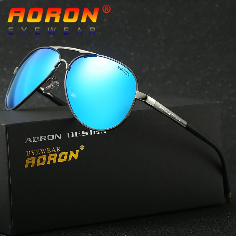 3678adfab9 Aoron Brand Polarized Sunglasses Coating Mirrored Driving Sunglasses Sun  Glasses Pilot Eyewear Colorful Oculos For Men 8503 D18102305 Mens  Sunglasses Police ...