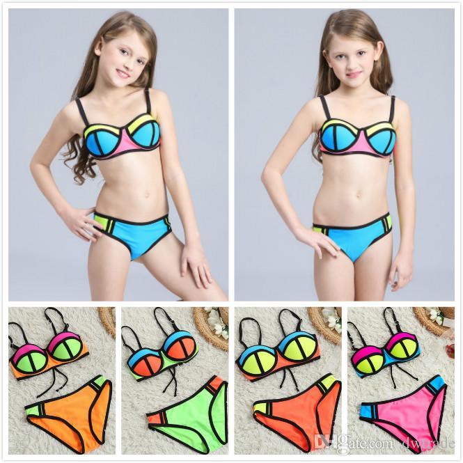 La Trajes Piezas Súper Color Bikini Atractivas Multicolor Moda De Nailon Verano Baño Natación Muchachas Traje Playa Dos Hit Las JTK1clFu3