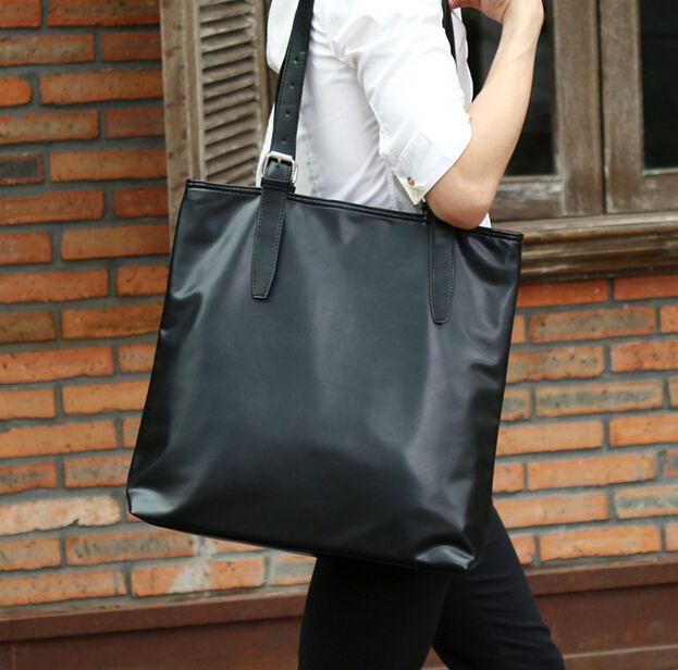 b11d2039c8 YESETN Bag New Hot Popular Unisex Women Men Handbag Female Male Big Simple  Black Bag Lady Man Large Tote Satchel Handbags Wholesale Purses From  Whataver