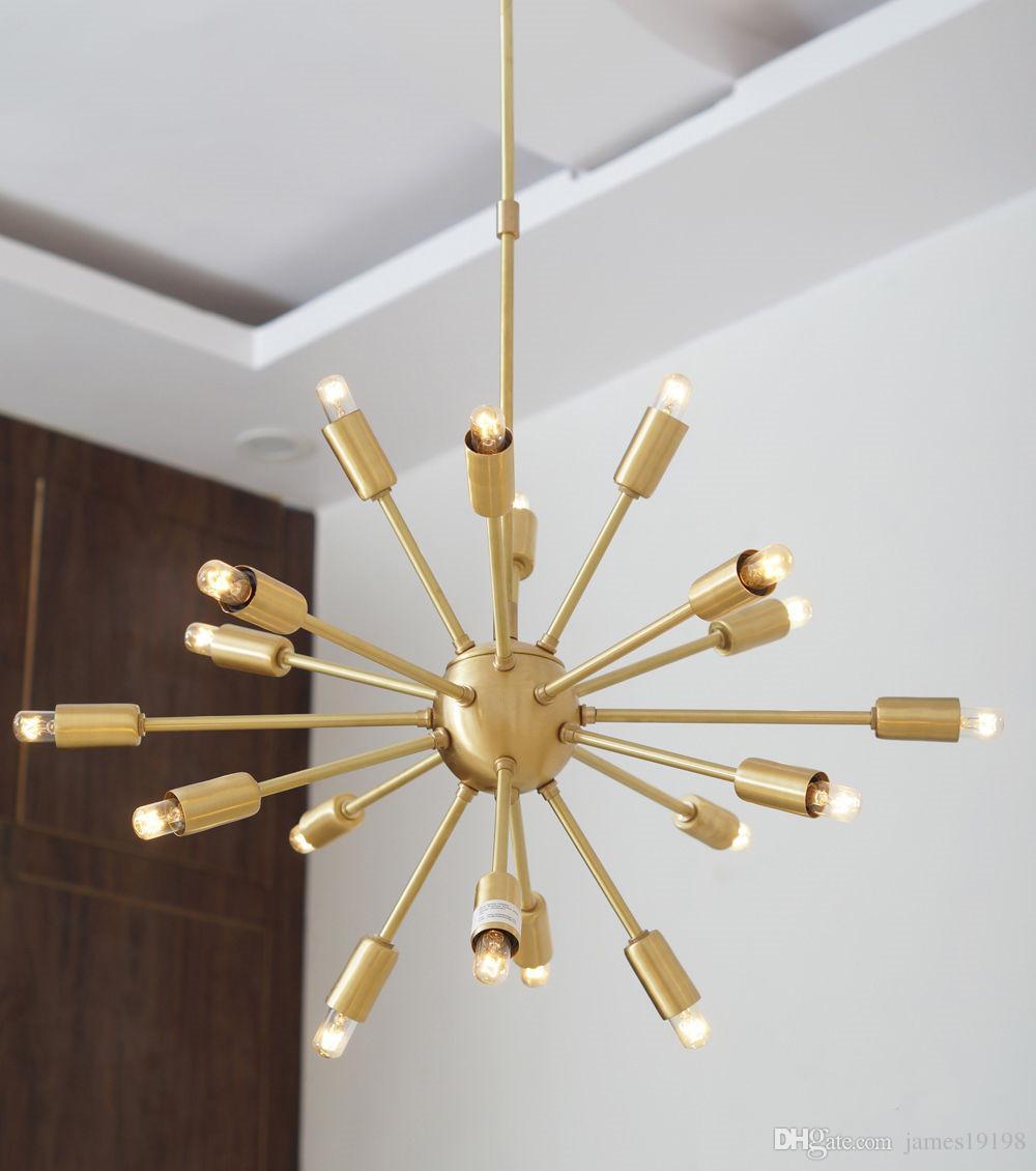 Iluminación Medio Moderna Suspensión Para Sala Araña Pulido Siglo Comedor Sputnik De Vestíbulo Latón Colgante Lámpara La Cocina 18 Rc34j5LqA