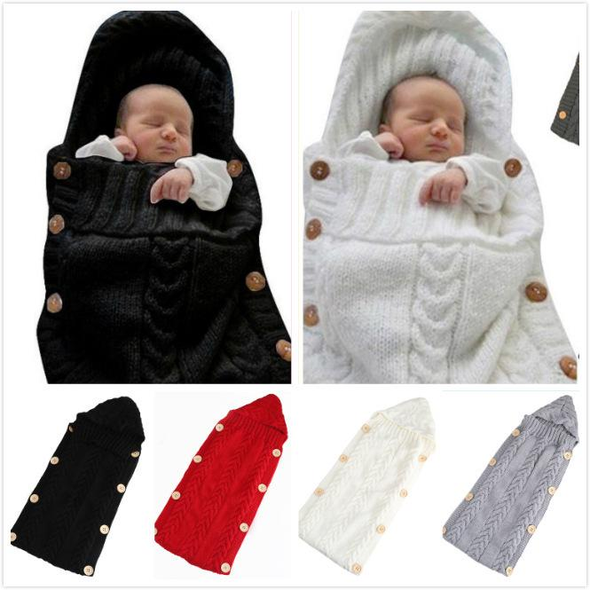 3c7893c65a4f Autumn And Winter Baby Knitting Wool Button Photography Blankets ...