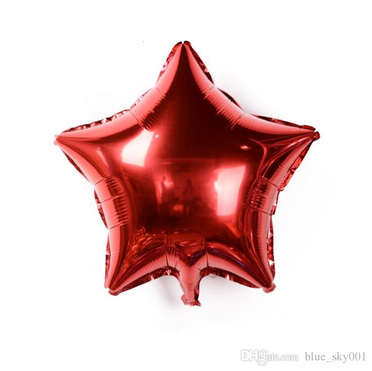 5 inch Five-pointed star Aluminum foil balloon wedding birthday party wedding Market hotel supplies air balloons