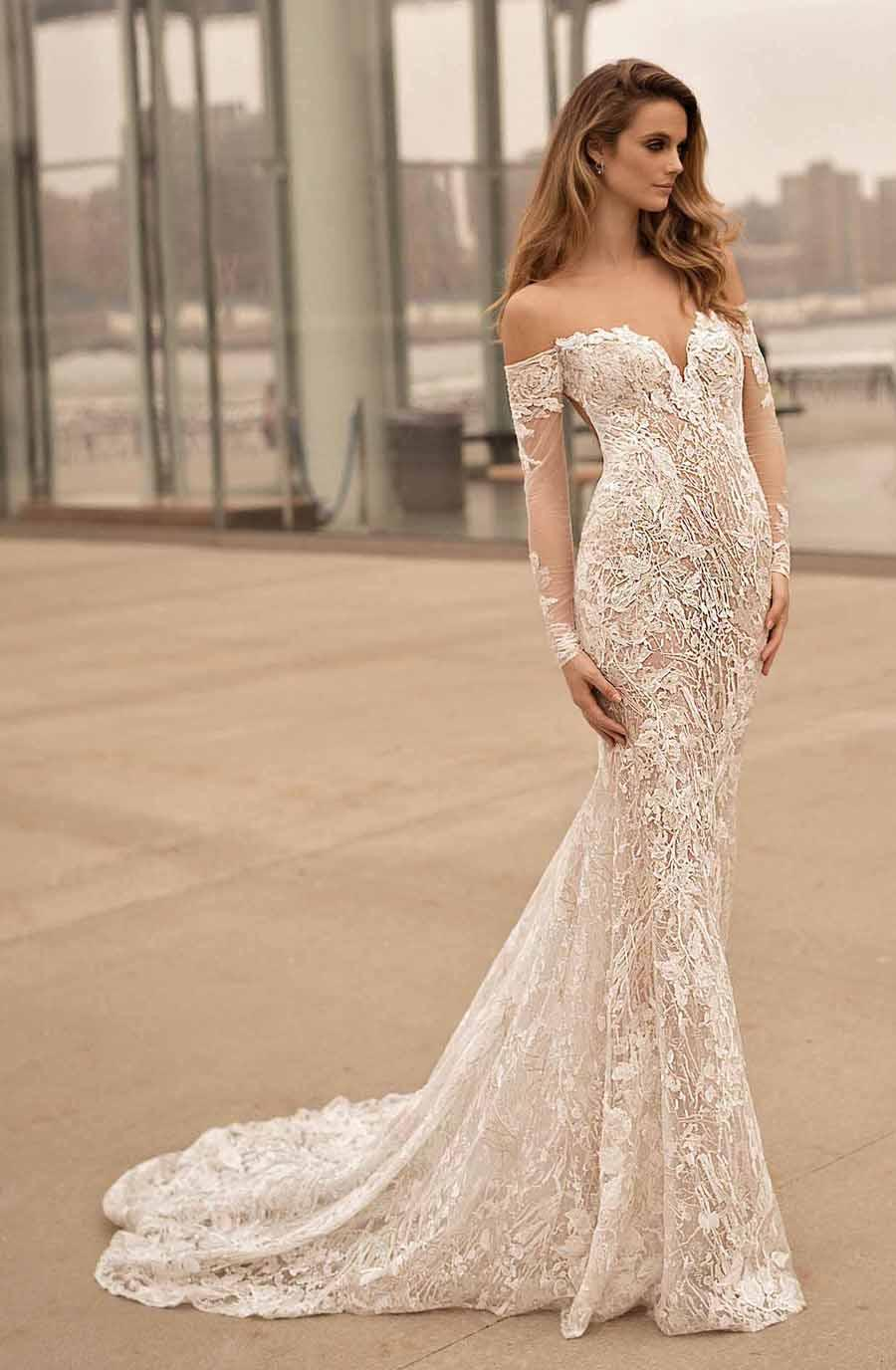 Long Sleeves Off The Shoulder Wedding Dresses 2017 Berta Bridal ...