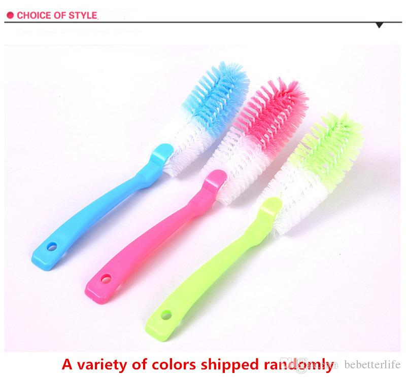High-quality PP material strong decontamination soft bristle brush can be hanging long handle brush bottle cup cleaning brush