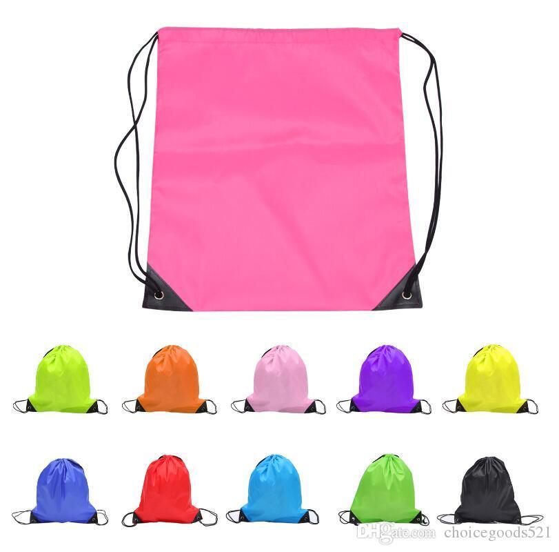 Multi fonction Solide enfants vêtements chaussures sac École Drawstring Sport Gym PE Danse Sacs À Dos natation sacs Livraison gratuite