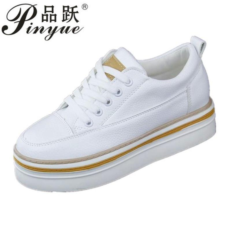 2018 Spring New Designer Wedges White Shoes Female Platform Sneakers Women  Tenis Feminino Casual Female Shoes Vulcanize Woman Online with  59.02 Pair  on ... d3cbadfafaea