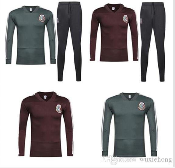 770ec5dc6 AAA+ Mexico soccer Jacket training suit 2018 World Cup Mexico tracksuit  CHICHARITO national team 18 19 Football jacket sportswear set S-XL
