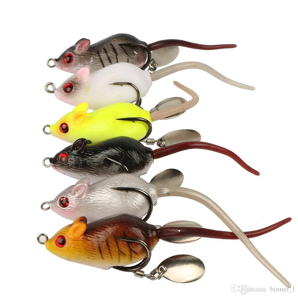 / Mouse PVC Baits Soft Dresses Mixed 5cm 10.5 g Fishing Hands Pesca Fishing Tackles Supplies BL_40