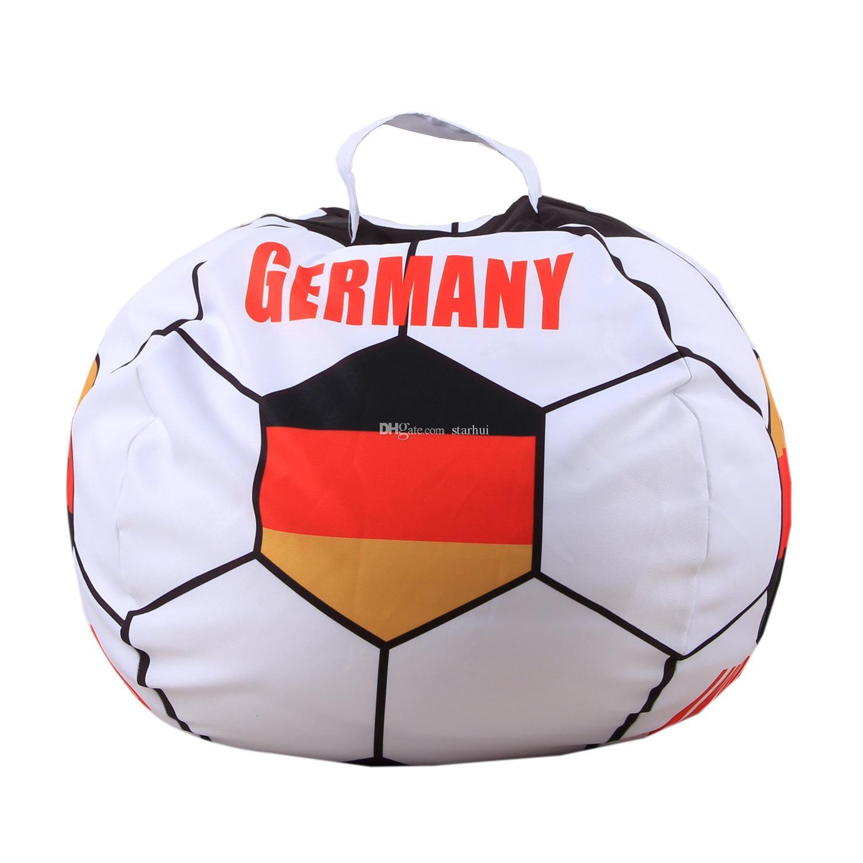 بلد العلم حقيبة التخزين لعب الأطفال الحيوانية لكرة القدم مروحة البراز بطانية منظمة الملابس أكياس 26 بوصة 34 أنماط WX9-548