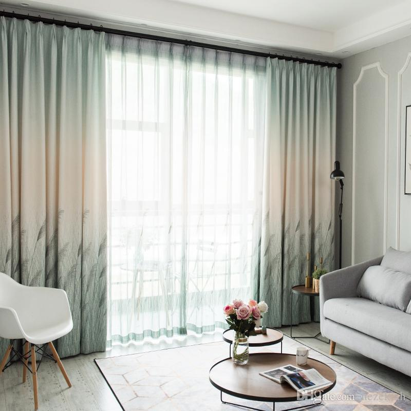 2019 Curtain Finished Simple Modern Bedroom Fresh Living Room Wild ...