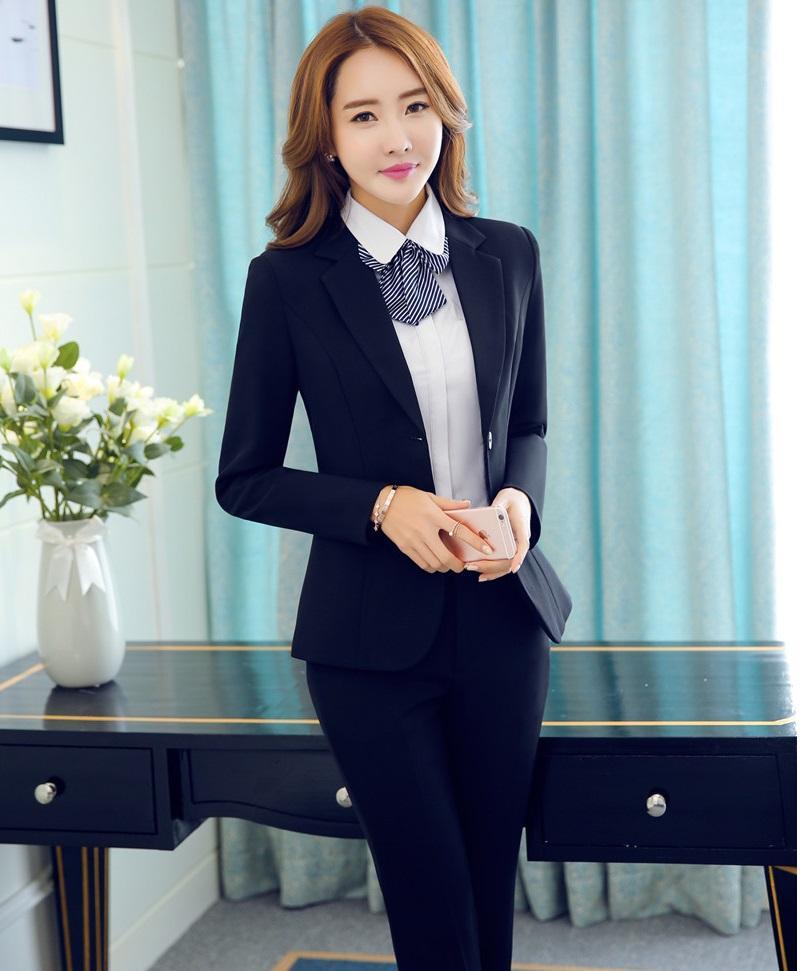 bb0ee49811db Формальные OL стили профессиональный бизнес рабочая одежда Костюмы с куртки  и ...