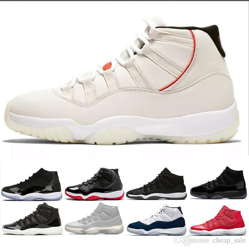491bb8fc421481 2018 11 Prom Night 11s Men Women Basketball Shoes Gym Red Chicago Midnight  Navy Space Jam Concord Bred PRM Heiress Black Sports Sneakers Loafers For  Men ...